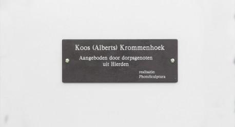 Graveerplaatje Koos Albers Borstbeeld