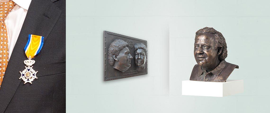 Koninklijke onderscheiding bronzen beeld cadeau