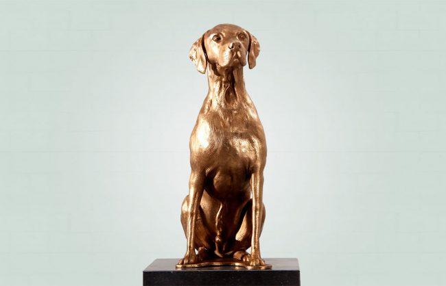 Brons beeld laten maken van huisdier, hond, kat of paard
